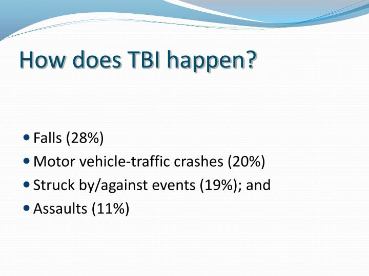 How does TBI happen?