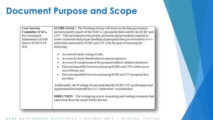 Document purpose and scop e