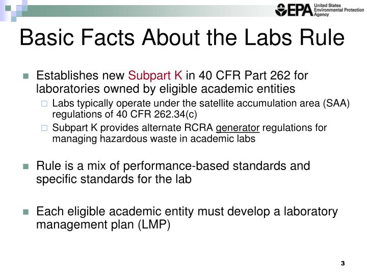 Basic facts about the labs rule