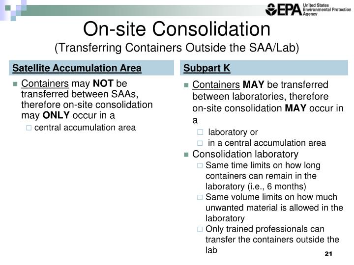 On-site Consolidation