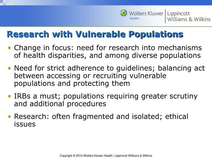 Research with Vulnerable Populations