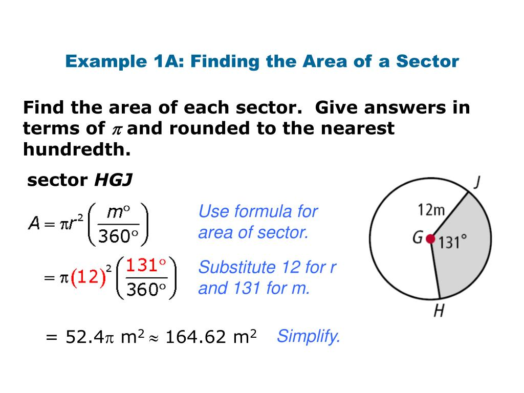PPT - Area of a sector and segment of a circle PowerPoint Presentation -  ID:6755144