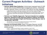 current program activities outreach initiatives