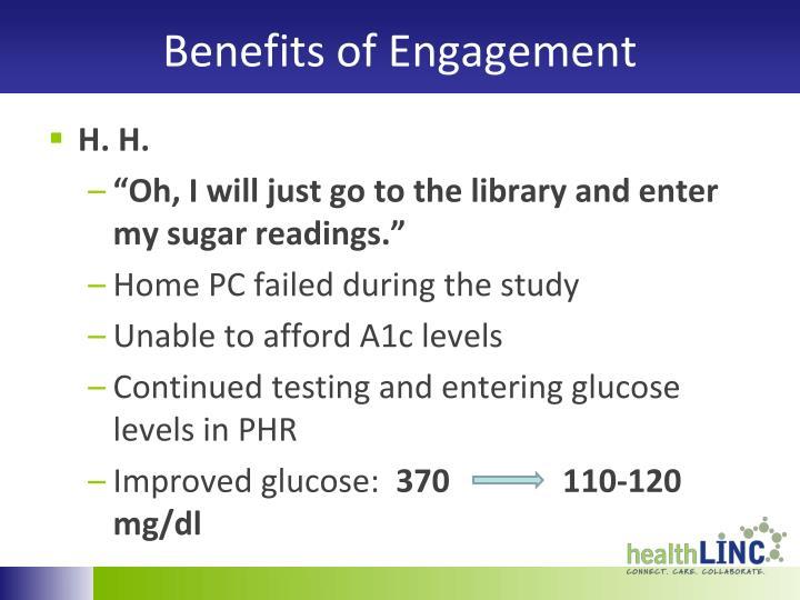 Benefits of Engagement