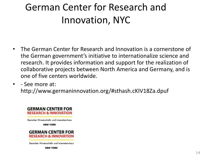 German Center for Research and Innovation, NYC
