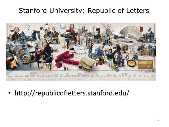 Stanford University: Republic of Letters
