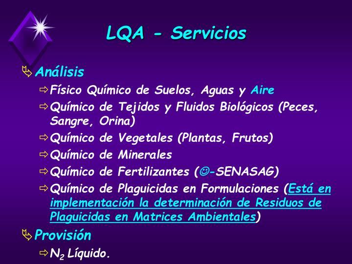 LQA - Servicios