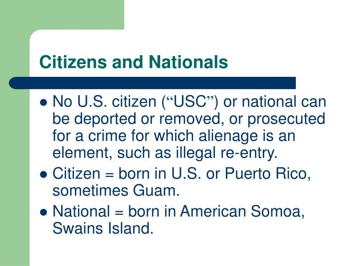 Citizens and Nationals