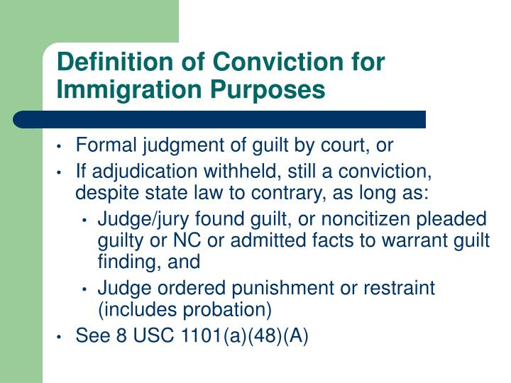 Definition of Conviction for Immigration Purposes