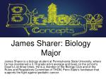 james sharer biology major