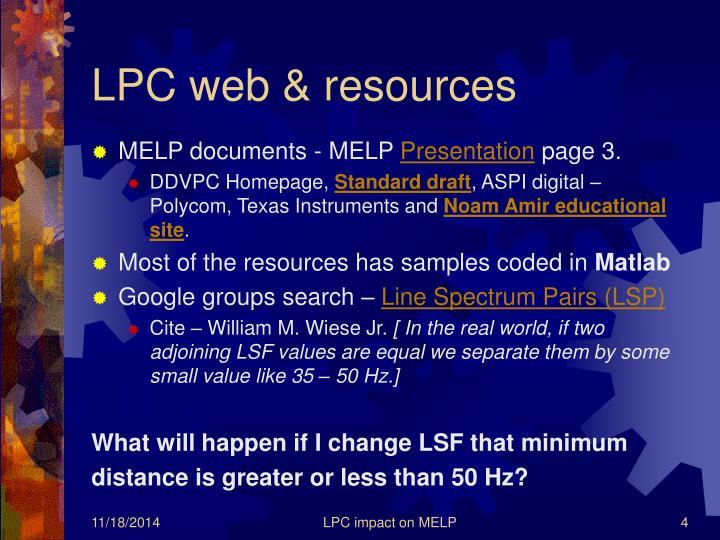 LPC web & resources
