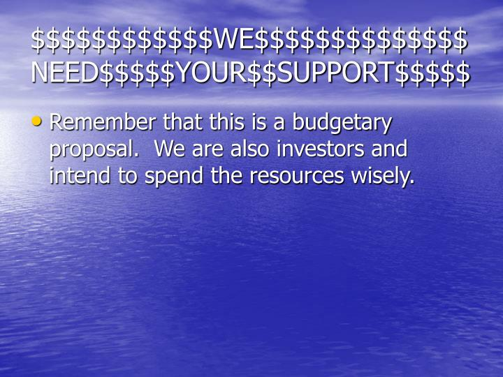 $$$$$$$$$$$$WE$$$$$$$$$$$$$$NEED$$$$$YOUR$$SUPPORT$$$$$