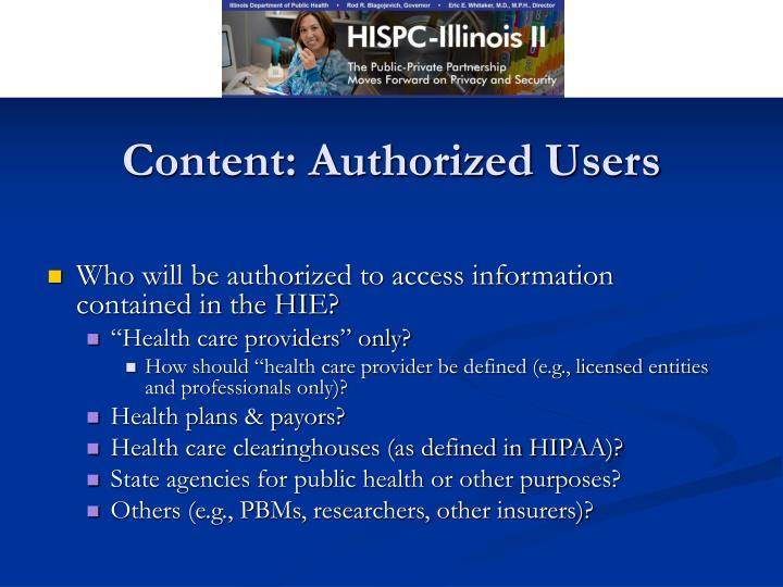Content: Authorized Users