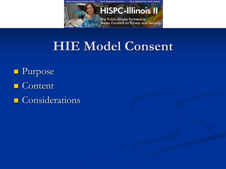 HIE Model Consent