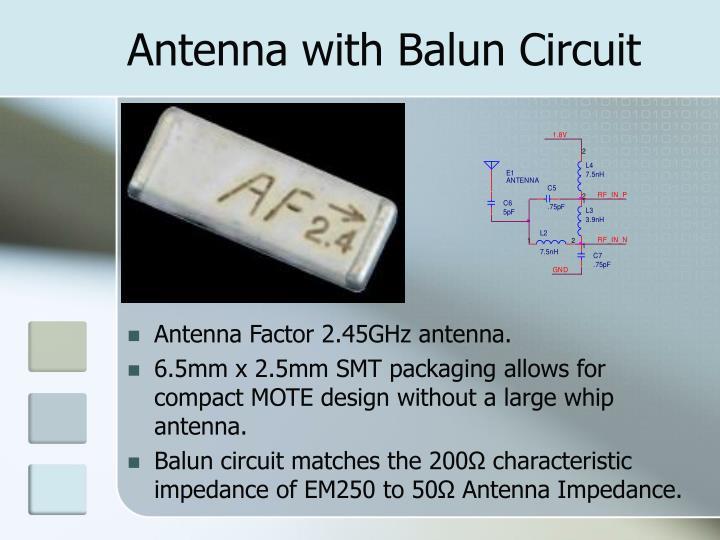 Antenna with Balun Circuit