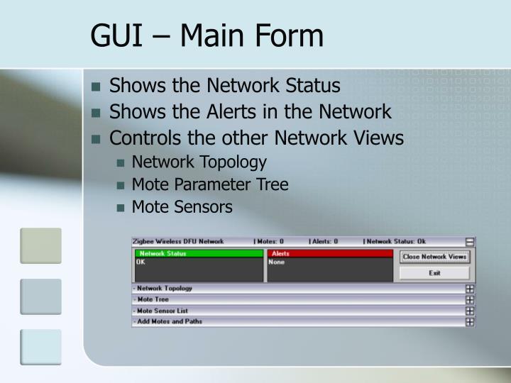 GUI – Main Form