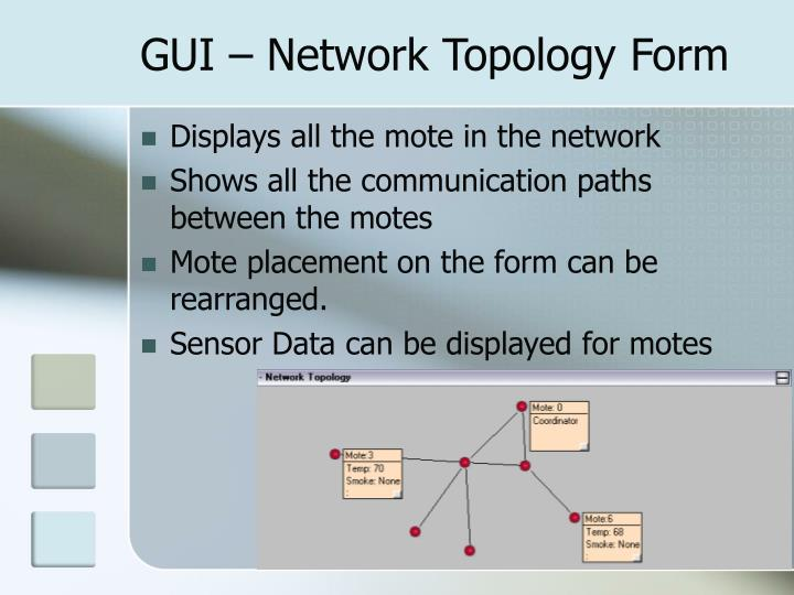 GUI – Network Topology Form