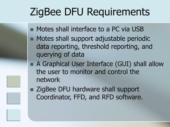 ZigBee DFU Requirements