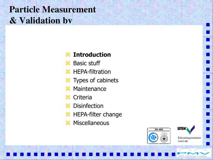 Particle measurement validation bv1