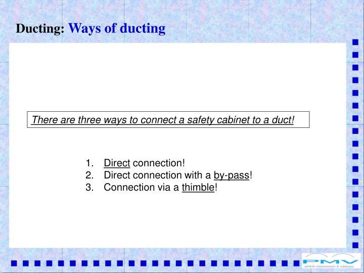 Ducting: