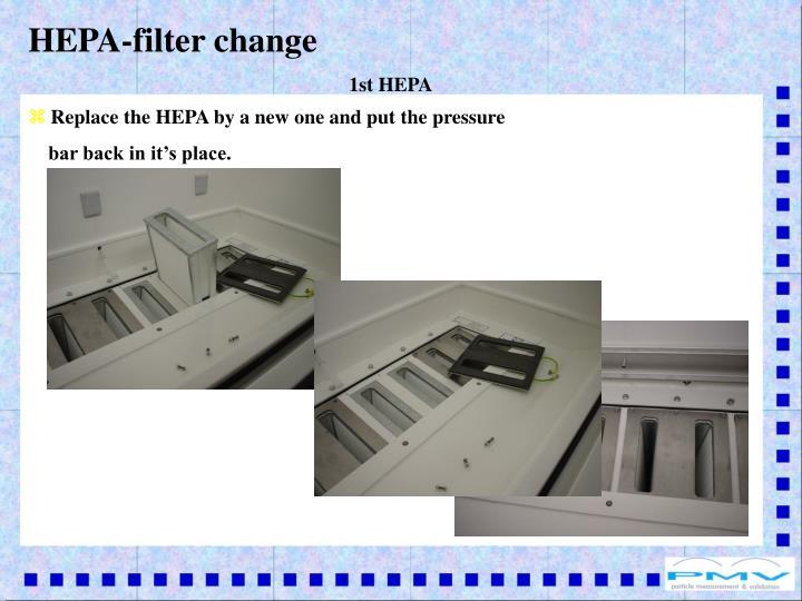 HEPA-filter change