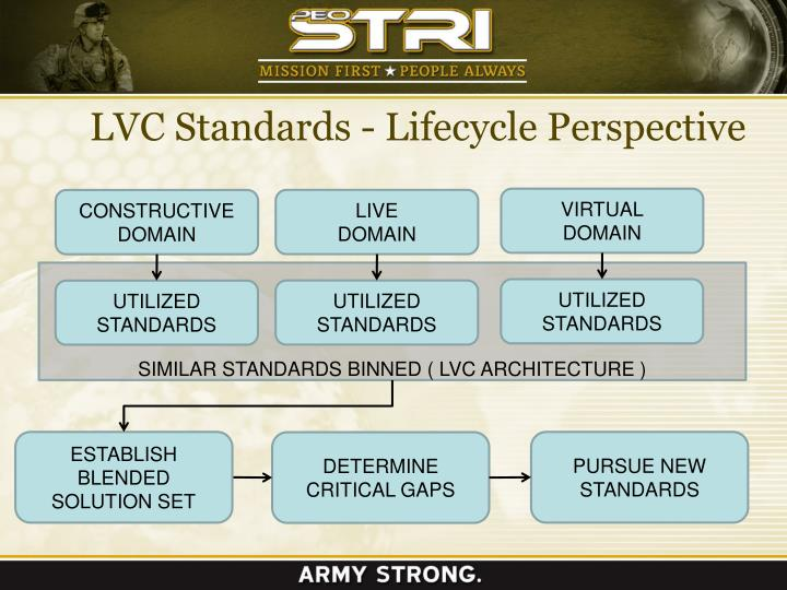 LVC Standards - Lifecycle Perspective