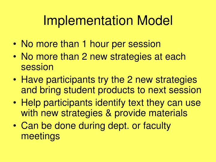 Implementation Model