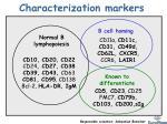 characterization markers1