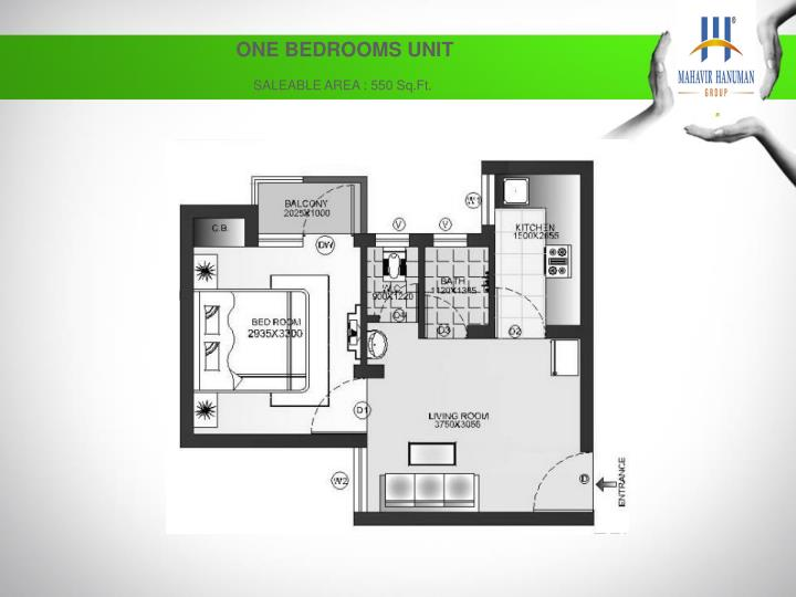 ONE BEDROOMS UNIT