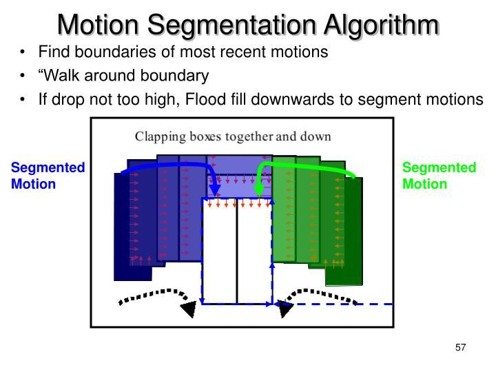 Motion Segmentation Algorithm