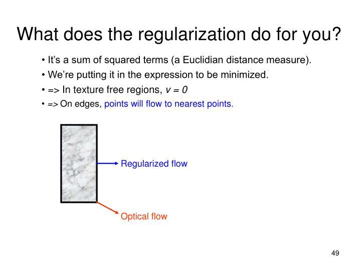 Regularized flow