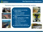 new opportunities in hydropower