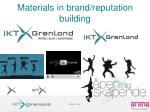 materials in brand reputation building