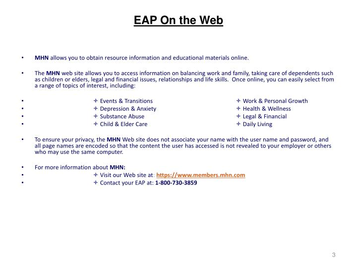 Eap on the web