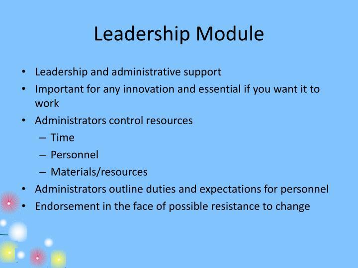 Leadership Module