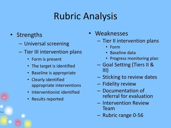 Rubric Analysis
