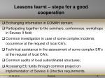 lessons learnt steps for a good cooperation1