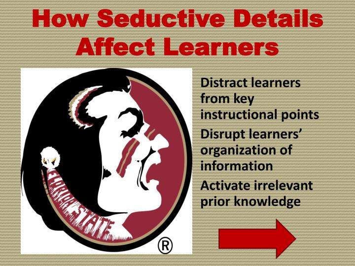 How Seductive Details Affect Learners