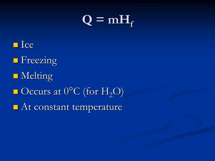 Q = mH