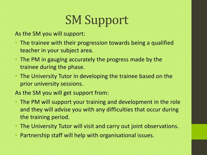 Sm support