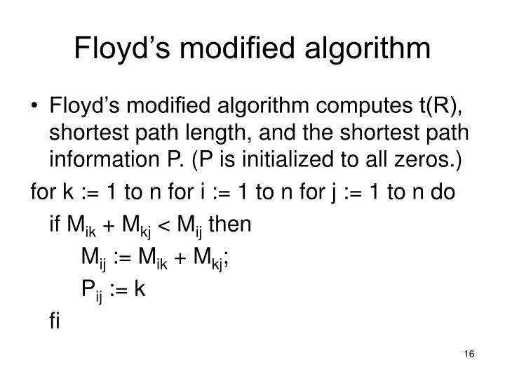 Floyd's modified algorithm