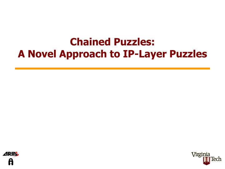 Chained Puzzles: