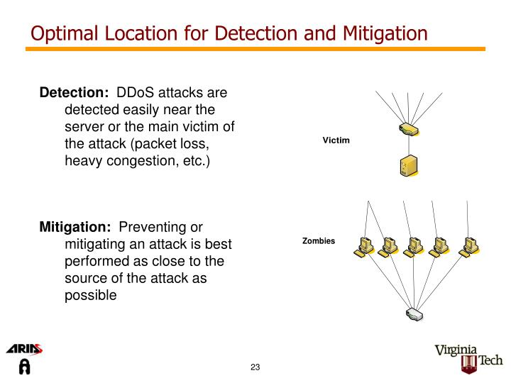 Optimal Location for Detection and Mitigation