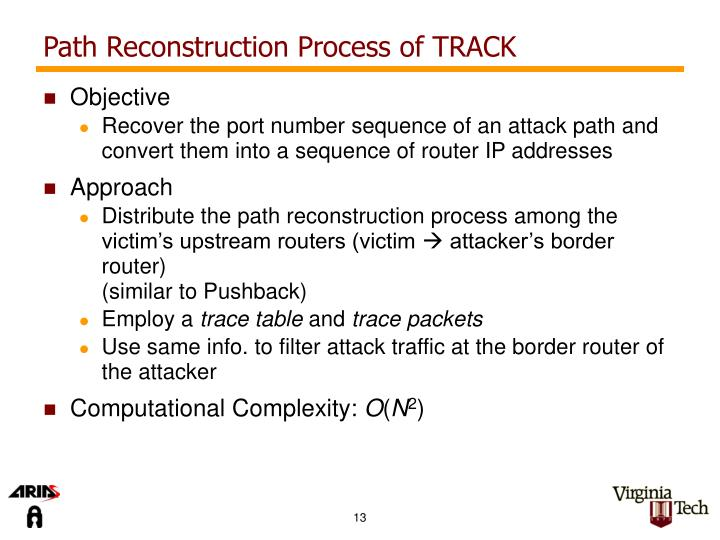 Path Reconstruction Process of TRACK
