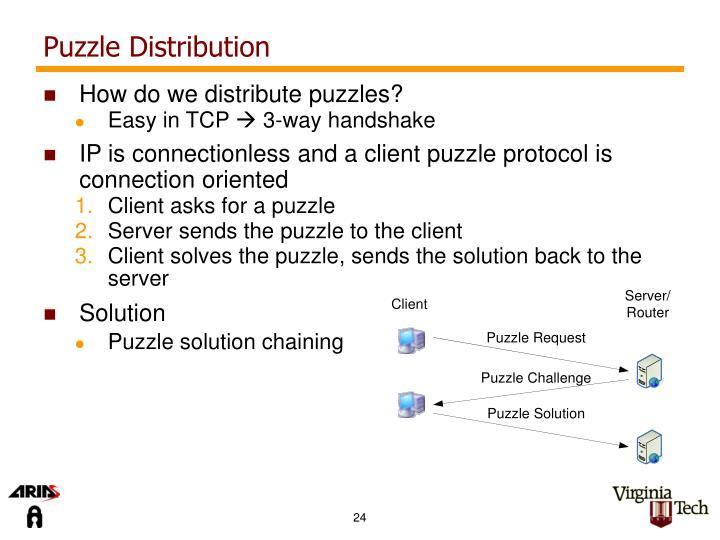 Puzzle Distribution