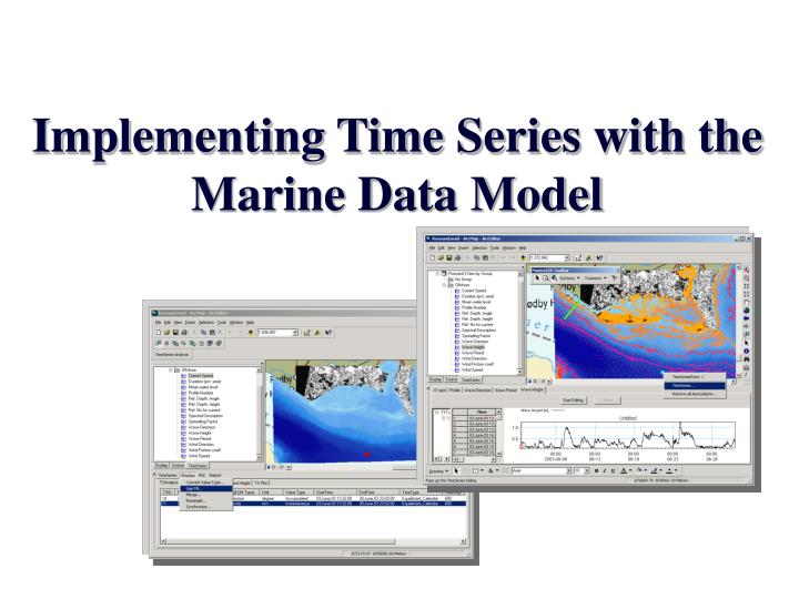 implementing time series with the marine data model n.