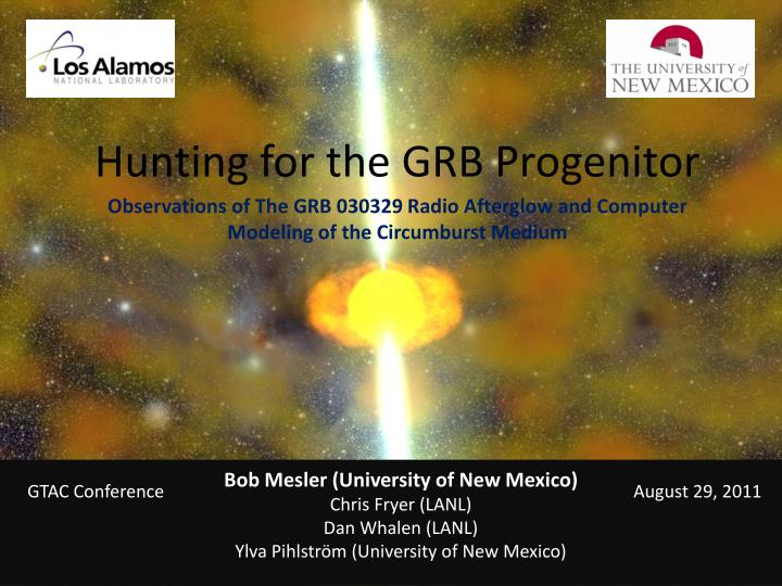 hunting for the grb progenitor n.
