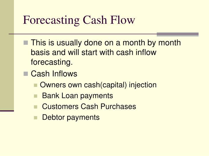 Forecasting Cash Flow