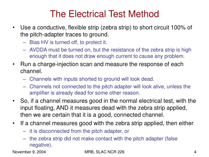 The Electrical Test Method