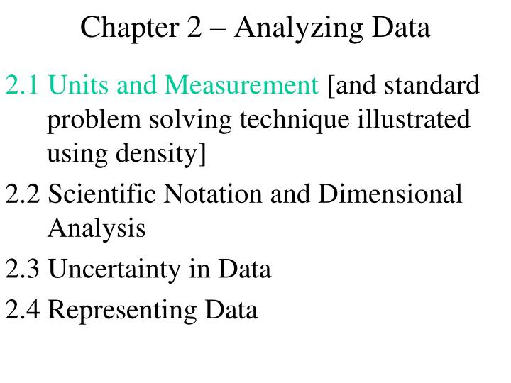 chapter 2 analyzing data n.
